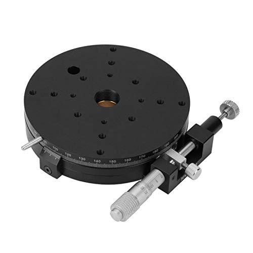 Etapa de rotación R 110 mm * 25 mm Plataforma giratoria de etapa de rotación R110 Etapa de rodamiento de precisión R Plataforma giratoria para equipos de prueba para maquinaria de producción