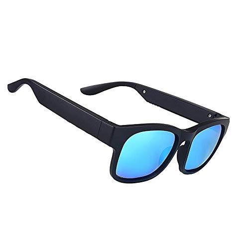 housesweet - Gafas de Sol inalámbricas con Bluetooth, Impermeables, para Hombres y Mujeres, polarizadas, Y40143MV8122GR, Azul