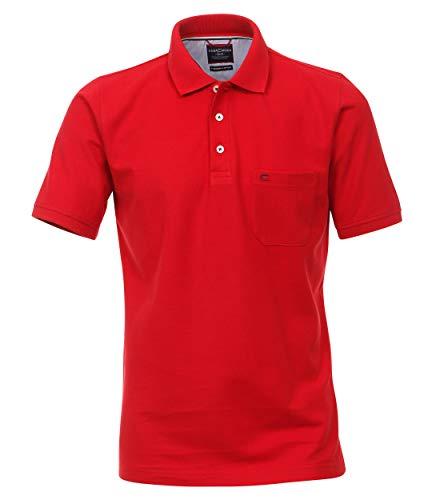 CASAMODA Herren Polo-Shirt Uni Rot XL