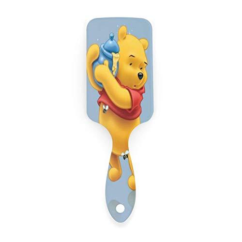 Cepillo de pelo Winnie the Pooh Bee Tarro Cojín de aire Peine Plástico Suave Nylon Alfileres Cepillo antiestático Desenredar para mujeres Hombres Niñas Niños