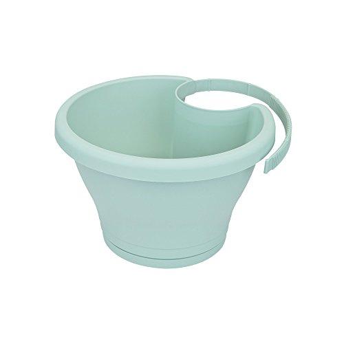 Ext/érieur /& Balcon Elho Green Basics Pot Goutti/ère L 22.7 x W 26.4 x H 17.1 cm Living Noir Planteur