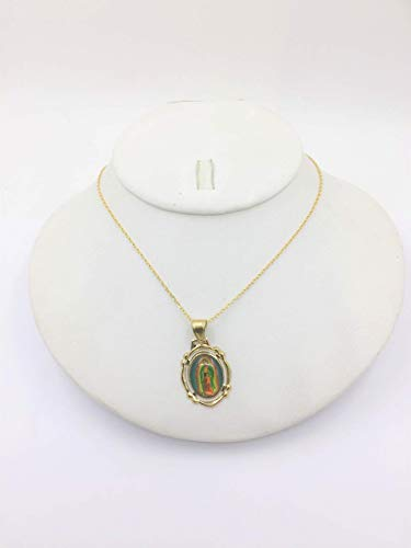 Medalla de la virgen de Guadalupe fotograbada