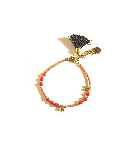 Urbiana Brass Summer Stone Bracelet Adjustable
