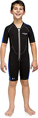 Cressi Short Kids, Boys & Girls, Front-Zip Neoprene Wetsuit for All Water Sports | Lido Junior