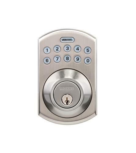 LockState RemoteLock 5i WiFi Electronic Deadbolt Door Lock - Satin Nickel - Boulder (LS-DB5i-SN-B)