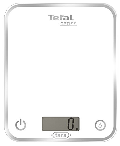 Tefal BC5000 Optiss White - Báscula de Cocina, hasta 5 kg, Blanco