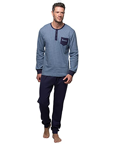 Abanderado Nightwear Men Juego de Pijama, Azul Marino, M para Hombre