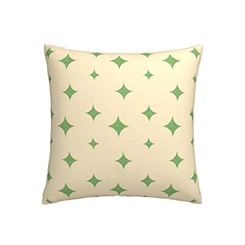 Funda de cojín Backyard Winter Birds Star verde perla, funda de almohada con cremallera para cama infantil, sofá o sofá