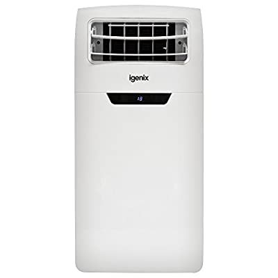 Igenix IG9906 4-in-1 Portable Air Conditioner with Cooling, Heating, Dehumidifier Function, 3 Fan Speeds with Sleep Mode, Remote Control and 24 Hour Programmable Timer, 12000 BTU, White
