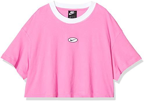 NIKE W NSW Swsh Top SS Camiseta, Mujer, China Rose/China Rose, L