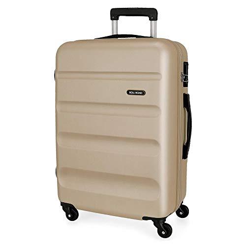 Roll-Road Flex koffer groot, stijf, 75 cm, champagne