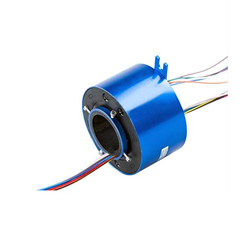 Taidacent Hollow Slip Ring Signal Power Continued 2/4/6/12 Road Collector Ring Conductive Electric Motor Slip Ring Rotating Connector (6 Wire 10A Inner hole 25.4 mm OD 85mm)