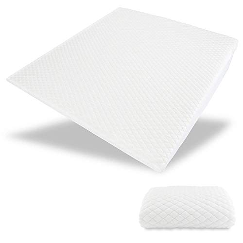 """Acid Reflux Cooling Wedge Pillow - USA Made with Memory Foam Overlay & Removable Cooling Cover -""""Cool"""" by Medslant. (31x28x7) Recommended Size for GERD and Other Sleep Issues."""