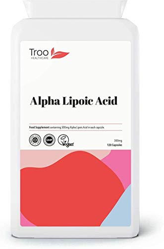 Alpha Lipoic Acid 300mg Supplement - 120 Capsules | 50-50 Blend RALA and SALA | UK Manufactured to GMP Standards