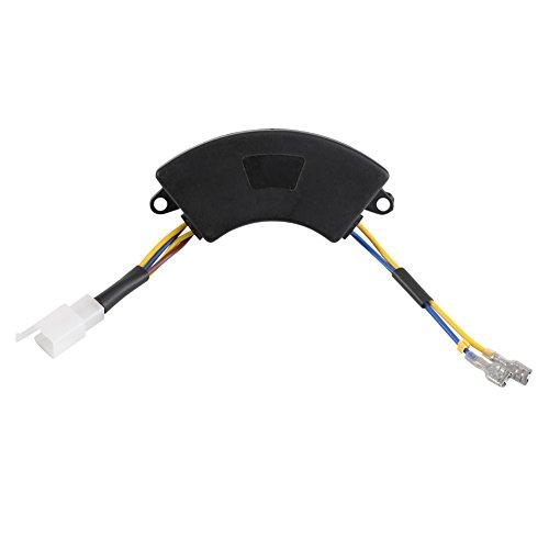 Regulador de voltaje automático en forma de arco AVR para generador eléctrico de gasolina 2KW-3KW 168F YP-AVR 220μF, accesorio eléctrico de 250V