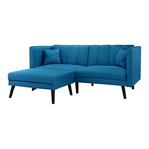 HTI-Line Ecksofa Matisse Ecksofa Polsterecke Polstergarnitur Couch Couchgarnitur Ottomane Sitzgelegenheit Blau