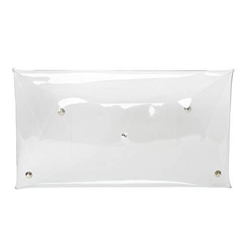 Flada Women's PVC Clear Clutch Transparent Handbag Purse Casual Messenger Bag, Large