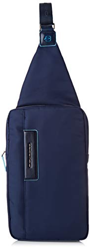 Piquadro Monospalla Collezione Celion Zaino Casual, Nylon, Blu, 30 cm