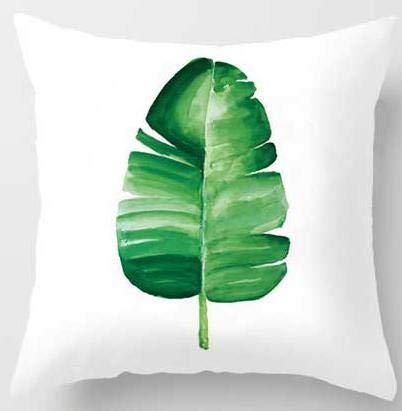 Acuarela Planta Tropical cojín Hoja Verde impresión Moderno Minimalista Hoja de plátano sofá Tiro Almohada Dormitorio decoración del hogar