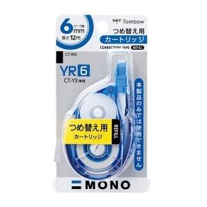 トンボ鉛筆 MONO YX 修正テープ つめ替えカートリッジ 幅6mm CT-YR6 5個セット