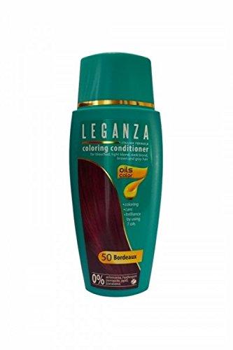 SPARSET 2 x Leganza Färbender Conditioner Farbe 50 Bordeaux Mit 7 Natürlichen Ölen Ammoniak und Paraben frei