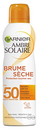 avis protection solaire professionnel Garnier Umbrella Solaire – Dry Mist Protection Dry Touch – SPF 50-200 ml