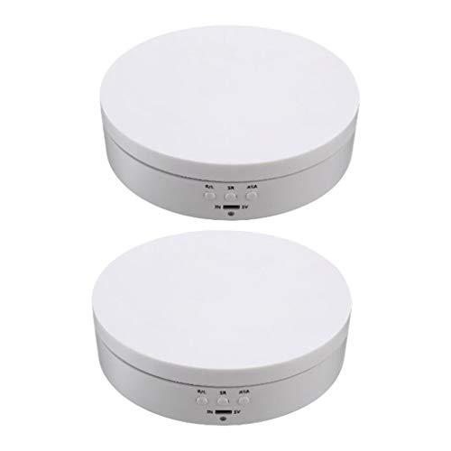 Milageto 2X Kunststoff Rotierender Displayständer 3D Art Cosmetics Schmuck Uhrenhalter