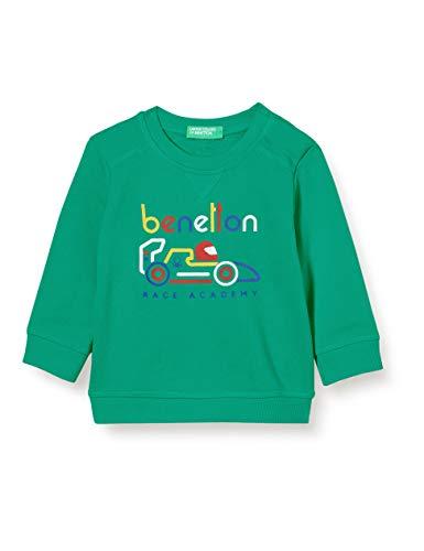 United Colors of Benetton (Z6ERJ Maglia G/c M/l Sudadera con Capucha, Bright Green 108, 82 para Niños