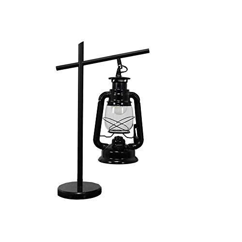 Tischlampe Vintage LED Hurricane Laterne Warmweiße elektrische Petroleumlampe Batteriebetriebene, handbemalte rote Metall-Hängelaterne für den Innen- und Außenbereich