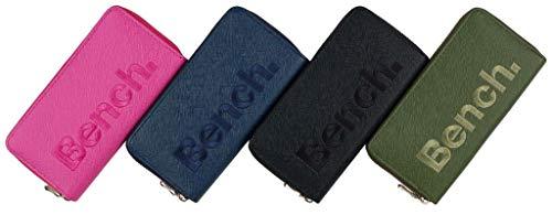 BENCH Damen Reißverschluss Börse Geldbeutel Portemonnaie Brieftasche NEU, Farbe:Pink