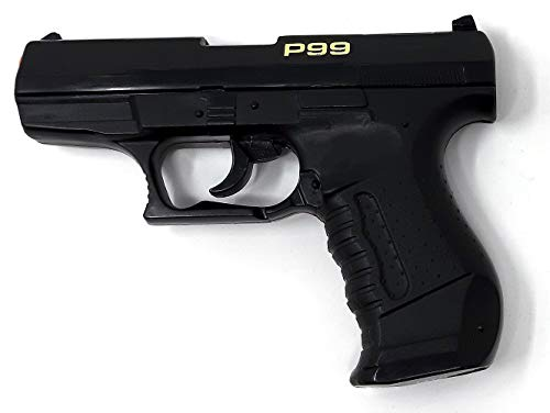 Brigamo Spielzeug Pistole Polizei Spielzeug Waffe P99, Kinder Pistole für Polizei Kostüm