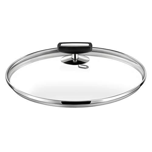 Cuisinox C62299WX05880 Malice Couvercle 24cm verre, bakélite noire et acier