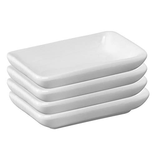 Westmark Cuencos de cerámica, Rectangulares, Pequeños, Dimensiones 7.8 x 5 x 1.5 cm, Cerámica, Tapas Friends, Blanco, 6975224A
