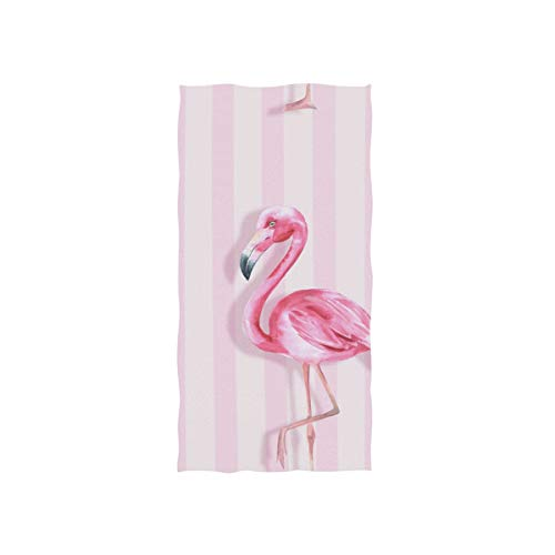"senya Pink Flamingo Hand Towel Ultra Soft Luxury Towels for Bathroom 30""x15"""