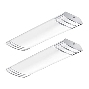 2FT LED Light Fixture 20W 2200lm 4000K Neutral White 2 Foot LED Linear Flush Mount LED Kitchen Lights Fixtures Ceiling for Closet Craft Room Laundry Fluorescent Tube Replacement 2 Pack