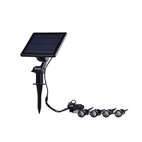 XLOO Luces solares para Exteriores, 4 Cabezales Focos solares Focos LED Focos de Pared Iluminación de Paisaje, Luces solares para Exteriores, Gradiente de luz Colorida, Encendido/Apagado automátic