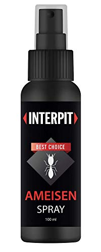 Interpit Ameisenabwehr Spray - gegen Ameisen für drinnen oder draußen, DAS Ungezieferspray frei von Gift, Schädlingsbekämpfung für Innen & Aussen - Schutz + Abwehr gegen die Ameise, Anti Insekten