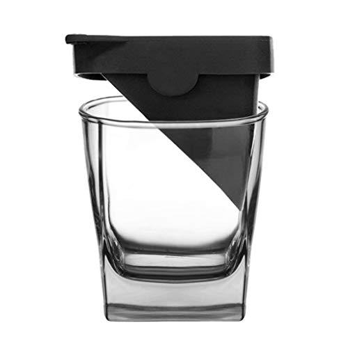 GXJ Vidrio de Vino de Cristal Helado de Hielo Whisky Vodka del Licor del Vidrio con Silicona Molde del Hielo Resistente al Calor y Durable