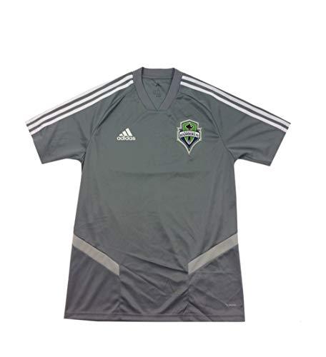 adidas Seattle Sounders FC Jersey- Gray/White- XLarge