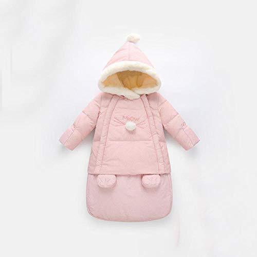 Wollschlafsack Baby Winter Voller Schlaf Baby Schlafsack 75 * 34cm Blau und Rosa Kinderwagen Warme Tasche für Neugeborene, Farbe 2