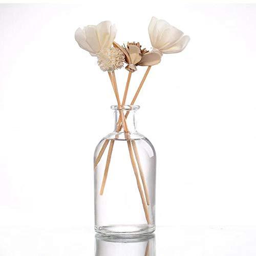 casavetro 6 Stück Kleine Vase BOST Blumen Tisch Dekoration Hochzeit Party Set Flasche Glas klar (6 Stück)