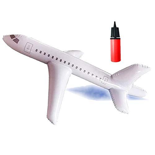 DZANS Avión Inflable Grande, Avión de Flotador de Piscina Jumbo Jet Toy, Niños Juego de Billar de Fiesta para Niños (200CM)