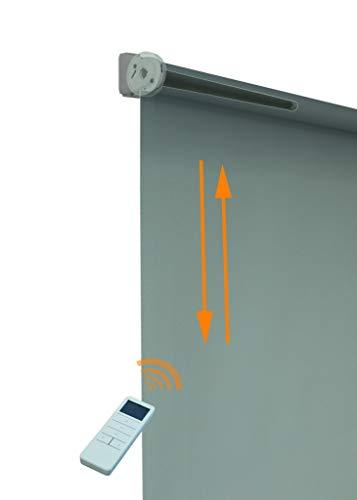 Deco4Me Motor+Fernbedienung Doppelrollo Seitenzug akkubetrieben für 16mm Welle nachrüstbar