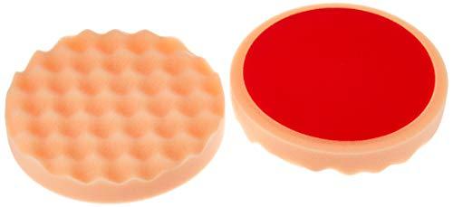 ALCLEAR 5616030AH Polierpad gegen Hologramme, Auto Polierschwämme, gewaffelt, Durchmesser: 160x30 mm, orange,2er Set, Polierpad polieren Pad Schwamm Polierschaum f. Poliermaschine, 5616030AH_2