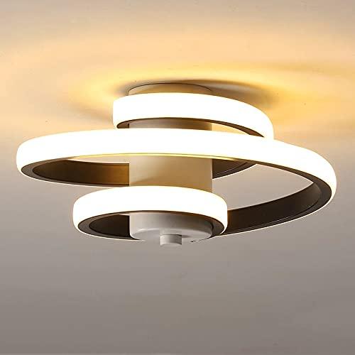 Lianye Moderna lámpara de techo LED de 18 W, iluminación interior colgante para balcón, entrada de pasillo, luz blanca cálida 3000 K, lámpara acrílica 220 V