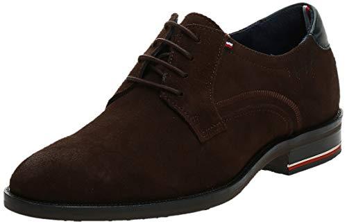Tommy Hilfiger Herren Signature Hilfiger Suede Shoe Derbys, Braun (Coffee Bean 212), 45 EU