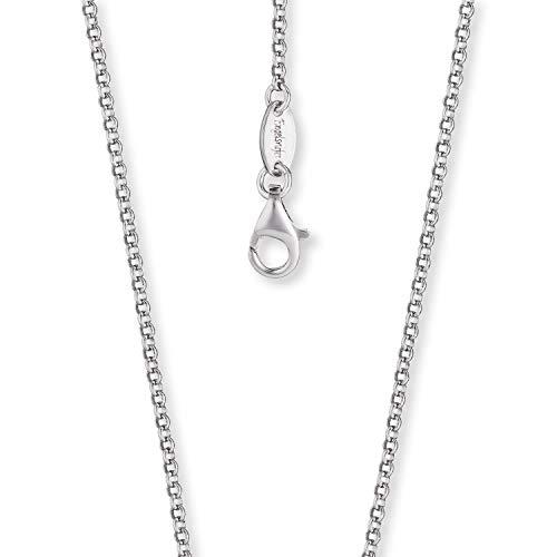 Engelsrufer - schlichte Halskette, Erbskette ohne Anhänger aus 925 Sterlingsilber, einfache stabile Silber Kette für Frauen und Mädchen mit Karabinerverschluss