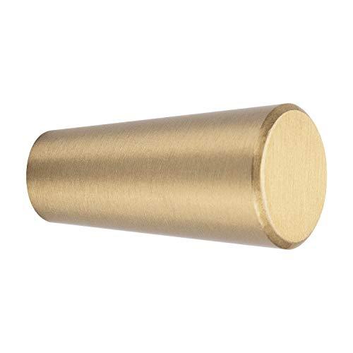 5 STKS Wandmontage Messing Kapstokken Decoratieve Individuele Wandkleerhangers voor Opknoping Kleding Handdoek Sleutels Hoed (Gouden Kegel)