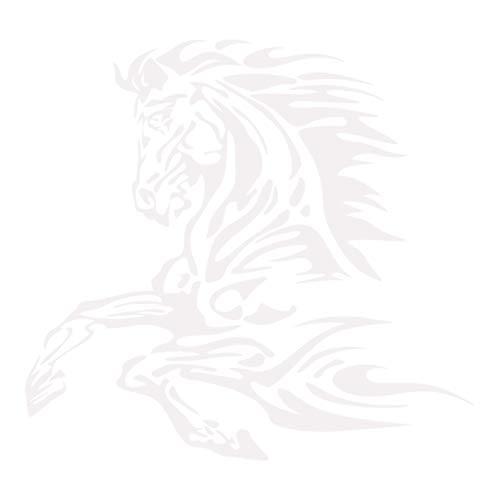 kleb-Drauf | 1 Pferd | Weiß - matt | Autoaufkleber Autosticker Decal Aufkleber Sticker | Auto Car Motorrad Fahrrad Roller Bike | Deko Tuning Stickerbomb Styling Wrapping