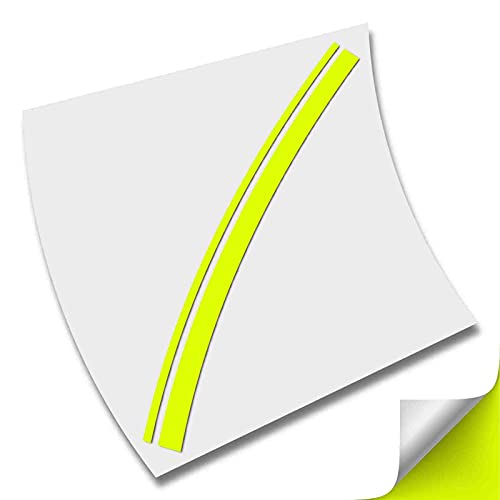 2 RAYAS LINEAS FRANJAS VIPER VINILO PEGATINA STRIPE LINES AUTOCOLLANT AUFKLEBER (Amarillo Fluor)